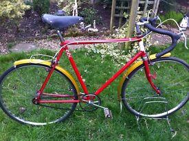 "Retro Dunelt road bike fixie 22"" frame"