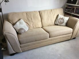 Large beige sofa, immaculate condition