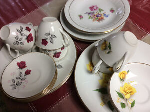 Dishes plates with roses