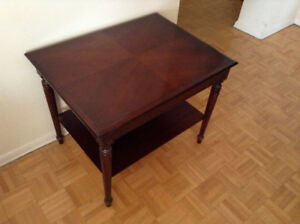 Set of 2 Mahogany Side Tables – Mint Condition