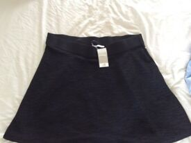 Ladies george black crinkle look skirt size 16