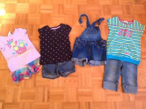 Lot de vêtements pour filles 5 ans