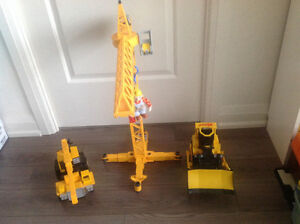 Cat Backhoe Toy and Crane