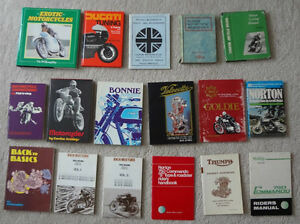 Motorcycle Books Manuals Literature Collection For Sale