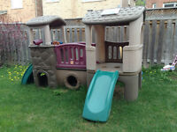 Step 2 Outdoor Clubhouse Climber and Pink Playhouse, Combo!!