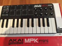 Akai MPK mini usb midi keyboard