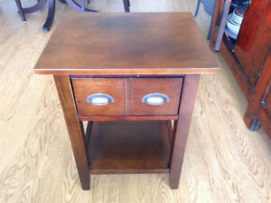 Pair of nice solid side tables