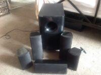 Onkyo 5.1 surround speakers/subwoofer