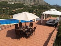 Villa Easter in the Jalon Valley Spain Costa Blanca for 10 people