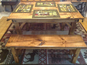 Custom Harvest table and bench made to order