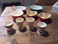 Ramekins and egg cups