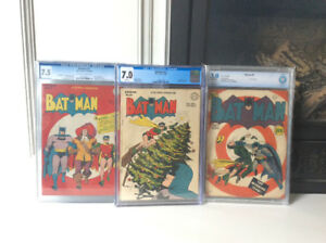 Selling Off 3 CGC Graded Golden Age Batman Comic Books