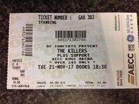 1 X standing Killers ticket for Aberdeen tonight