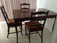 Hutch, Buffet and dining table set