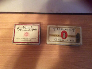 Two old cigarette tins