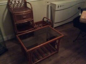 Settee, 2 chairs table,stool and unit