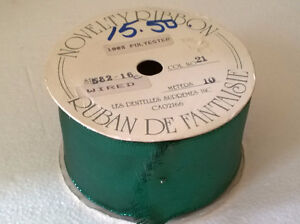 Large roll of metallic green wide ribbon Brand New London Ontario image 2