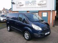 2013 63 FORD TRANSIT CUSTOM SWB LIMITED LTD 125BHP IN RARE INK BLUE METALIC TOP
