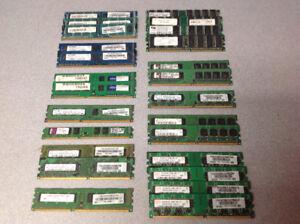 Various desktop ram