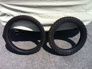 front and rear trailwing tires for off road or dual sport bike
