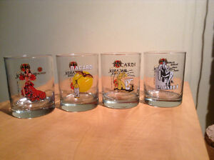 Bacardi 150th anniversary glasses - set of four
