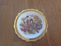 Pheasant patterned one of set of four
