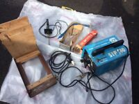 Welding Machine plus welding Torch,Box of Iron Rods And Trolley