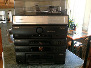 Pioneer stereo double cassette deck receiver RX-570, with Remote