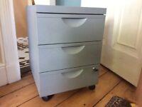 Ikea Erik office 3 drawer unit on castors