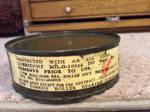 Canadian  military canned bearing