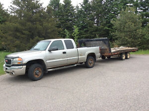 2004 GMC duramax diesel Sierra 2500 Pickup Truck and trailer