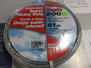 Brand New 200' Steel Cable Clothesline