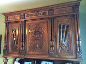 Antique carved walnut French Renaissance sideboard/buffet