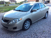 2009 Toyota Corolla, accident free with winter tire
