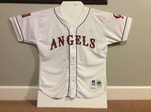 Signed Bo Jackson Angels Jersey
