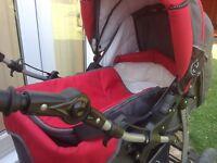 Baby merc 3 in1 pram, pushchair & car seat.