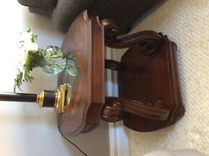 Baroque Cherry Wood finish End Table matches table also on Kijij