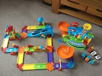Vtech Toot Toot train set and garage