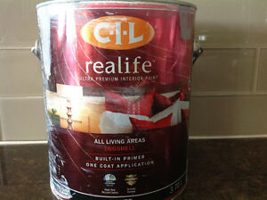 C.I.L Realife Ultra Interior Paint 3.7L in grey - Full can