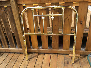 Single Brass Headboard