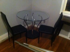 New glass kitchen or dining room table