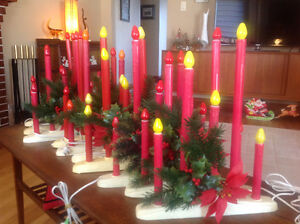 10 VINTAGE NOMA CANDOLIERS-All work Christmas Window Candles