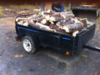 Firewood cut and split 4' x 6' trailer delivered to Bridgewater