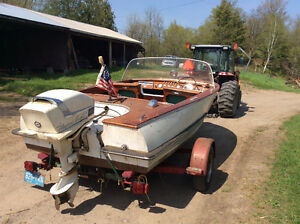 Antique wooden boat for sale