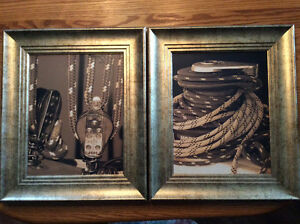 Set of framed prints