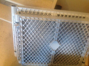 Large octagon shaped plastic baby gate
