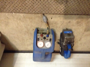 Ac vacuum pump, recovery unit and recovery tanks