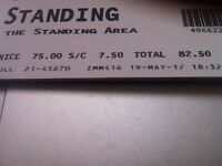 1 Standing Robbie Williams ticket Cardiff