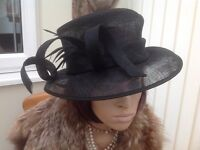 Black Wedding hat - Bargain