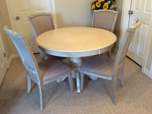 Custom-made table and 4 chairs